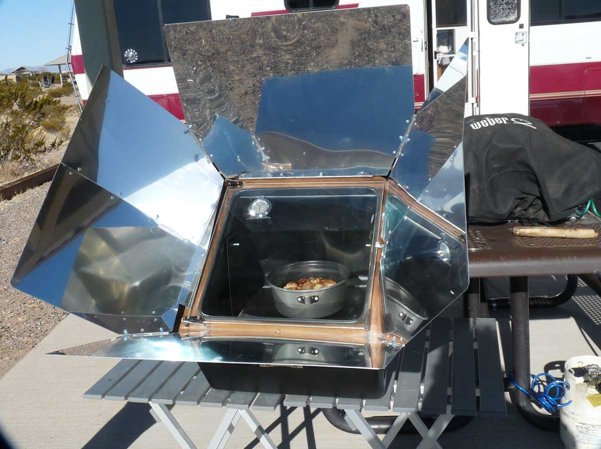 ... cook. While the solar oven was an investment, it is already paying for
